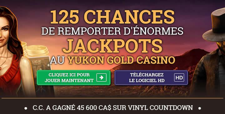 Jeux en ligne comme à Las Vegas avec Yukon Gold Casino
