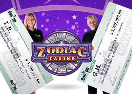 Zodiac Casino et machines à sous en Ligne