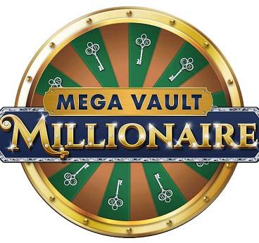 Le logo de la slot Mega Vault Millionaire