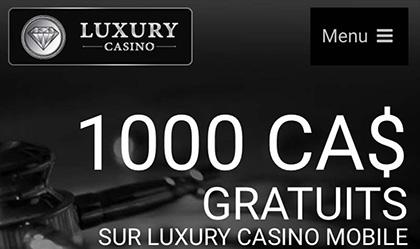 Des taux de reversement qui sont équitables - Jeux de table chez Luxury Casino