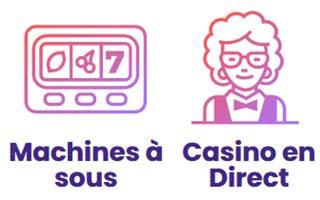 Machines à sous et jeux en direct