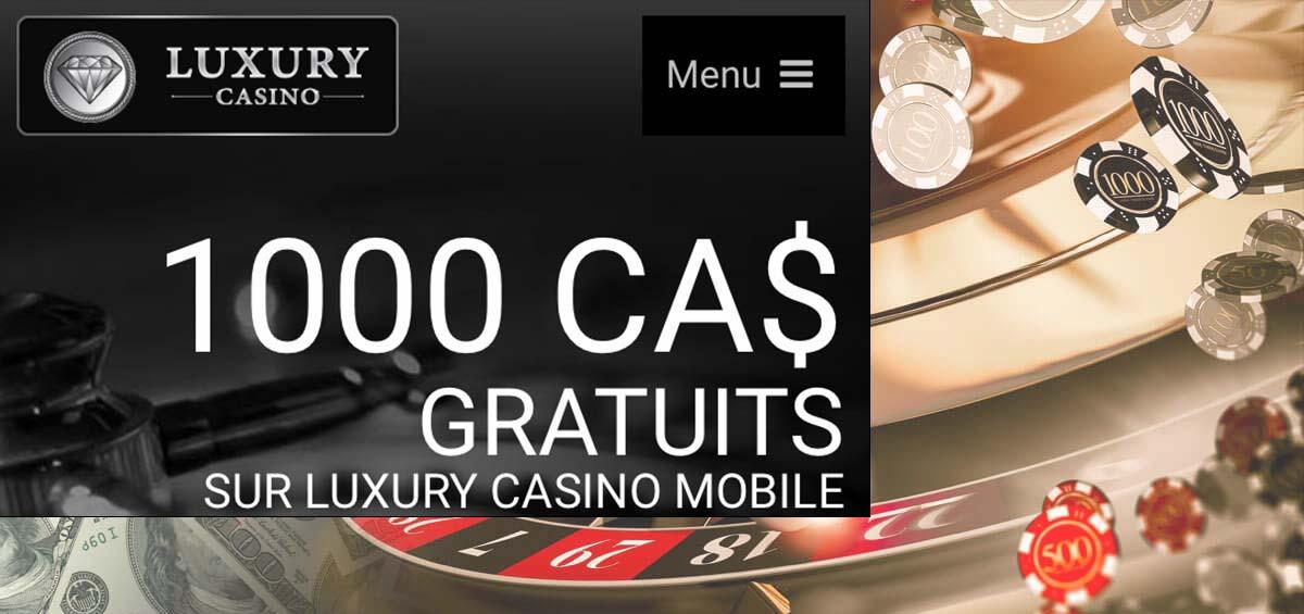 Offre Mega Moolah de bonus gratuit au Québec avec Luxury Casino