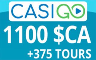 CasiGO bonus et tours